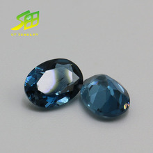 synthetic sapphire London blue topaz jewelry supply factory price