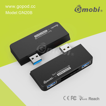 Factory Wholesale Gmobi 4-in-1 Connection Kit Micro USB HUB+Card Reader Suitable For Surface 2/Pro 2