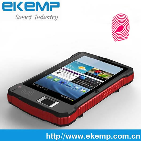 EKEMP Handheld Android 3G WIF NFC RFID Fingerprint and Barcode Rugged Tablet