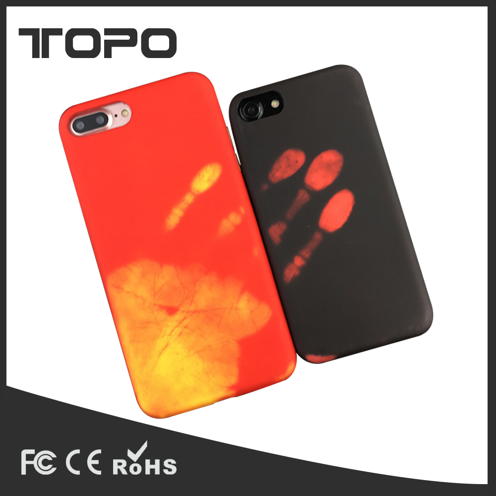 Latest soft heat sensitive back cover for <strong>iPhone</strong> 7 plus Temperature Heat Sensitive Color Changing phone case for <strong>iPhone</strong> 6