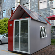 Galvanized steel plus powder coating with solar roof top hotel 10 sqm prefab modular house