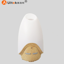 electric ceramic essential oil diffuser ultrasonic mini aromatherapy diffuser wood little Elf humidifier for car use