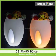 CE&RoHs professional waterproof IP65 16 colors led flower pot for hotel decoration& Resturant furniture