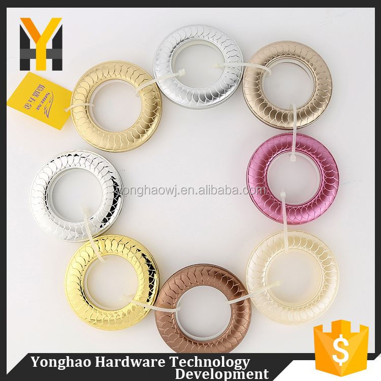 China special design colorful eyelet ring pp plastic curtain rings