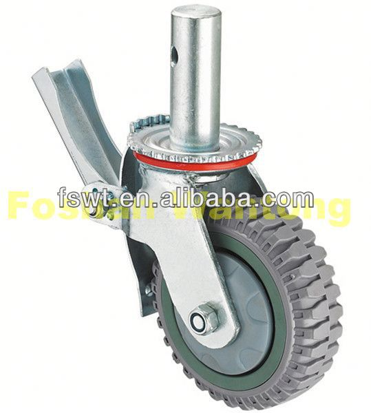 Heavy Duty Scaffolding PU/PVC push cart caster wheels(for machinery, industrial, hardware)