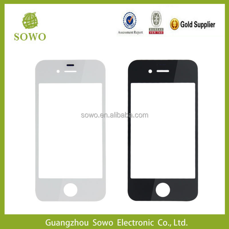 For iphone 4 4s front glass replacement with best quality