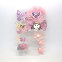 pink hair accessories set for baby girls,princess hair clips for girls gift,pretty hair clips