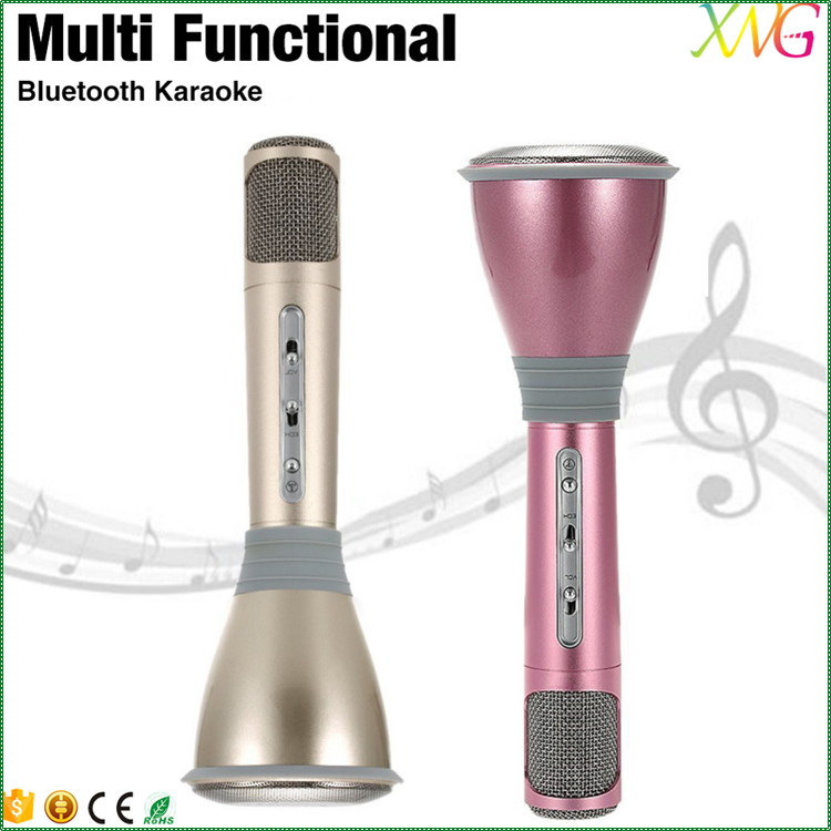 High quality bluetooth karaoke microphone with speaker for iphone