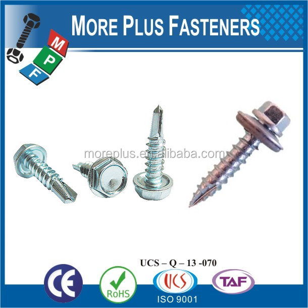 Taiwan Stainless Steel 18-8 Copper Brass Aluminum Brass Self Drilling Screws Self Drilling Concrete Screws Self Drilling Roofing