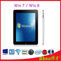 Intel Windows XP tablet pc intel N2600 cpu tablet pc 9.7inch IPS Screen dual core windows 7/ 8.1 3G phone tablet
