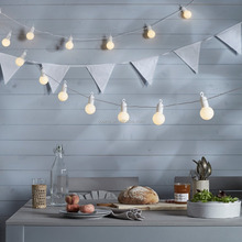 20 Warm White Indoor Outdoor Use hanging LED Festoon Party Lights