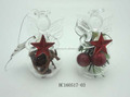 Wholesale new design clear glass christmas angel to hang ornaments