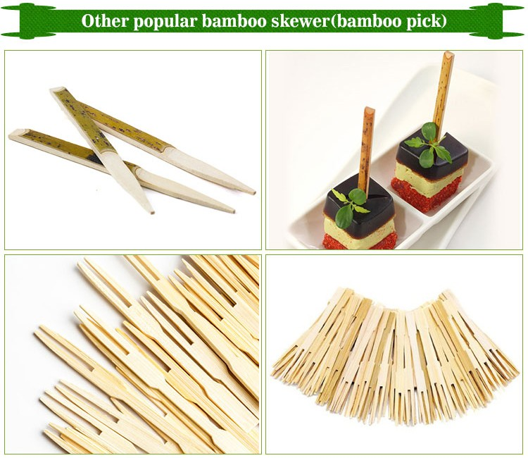Disposable 12cm knot color bamboo skewers for spain market