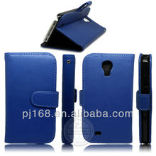For samsung galaxy s4 Flip leather cover case with stylus holder