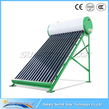 Non pressurized vacuum tube solar water heater system for Apartment Project 150L