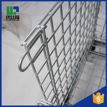 Mesh Wire Cage Steel Pallet Cage Warehouse Rolling Metal Storage Cage With wheels