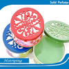 Hot selling scents car air freshener solid perfume containers