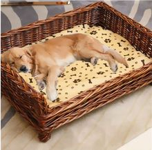 2017 new design dog beds rattan cat basket wicker pet product for dog
