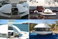 Round Houseboat house boat floating home for sale