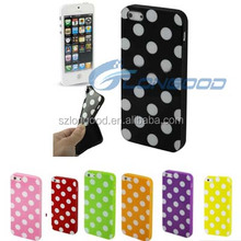 Top Selling Mobile phone Accessories dot pattern colorful soft tpu phone case for iphone