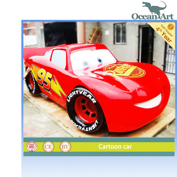 Cartoon car model, which is made of fiberglass