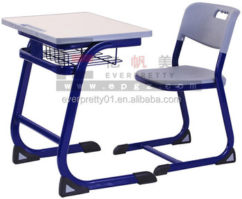 High School Classroom Table Set Single Student Desk and Chair
