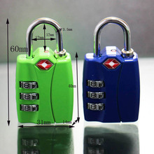 TSA-12022 Logo printed travel 3 digital combination TSA safety padlock