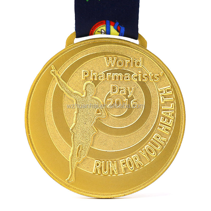 custom metal plating gold silver bronze sports commemorative medal producer