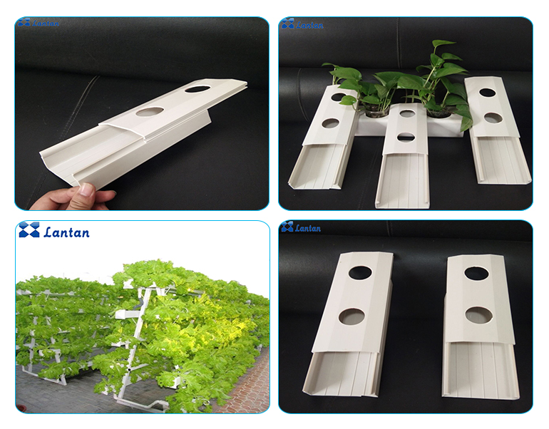 Export PVC pipe planting grow hydroponic system for Greenhouse vegetables