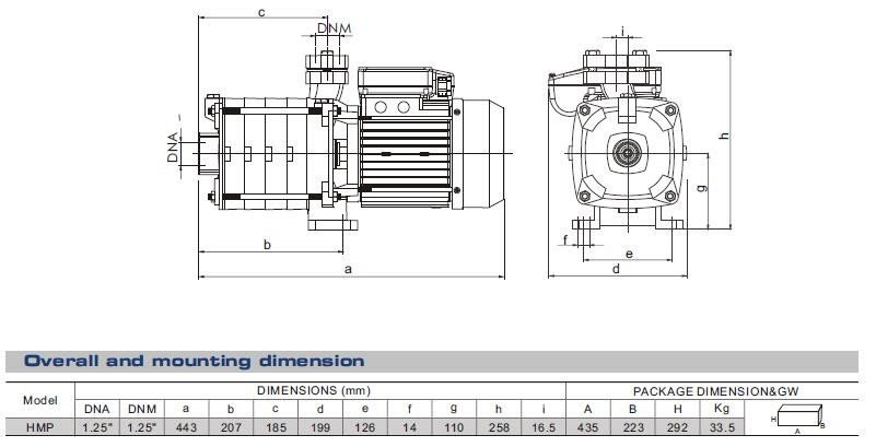 HMP Series Horizontal Multi-stage Centrifugal Pump Water Pump Supply