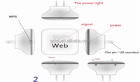 New wifi router wireless N repeater with charging adapter