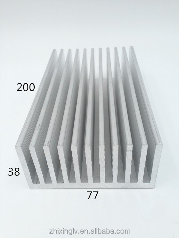 Whole sale,low price high quality Direct factory China Aluminum Radiator fin 77*38-200 aluminium heat sink profiles