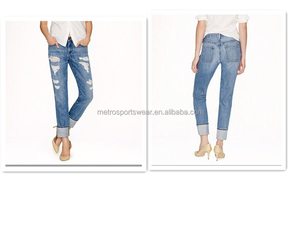 Women Fashion Broken-in Jean with top quality