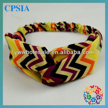 Unique Design Chevron Pattern Turban Headband for Baby Little Girls,Ideal Children Hair Decoration