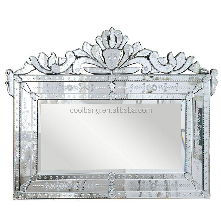 Modern venetian dressing room wavy mirror with majestic pattern