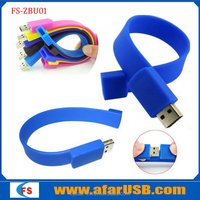 Silicone usb bracelet 2015 promotional waterproof new product bulk 8GB USB flash drives silicone usb bracelet