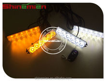 24 watts 24 LED Car Strobe Grille Lights, Emergency Vehicle Strobe Light wireless remote control