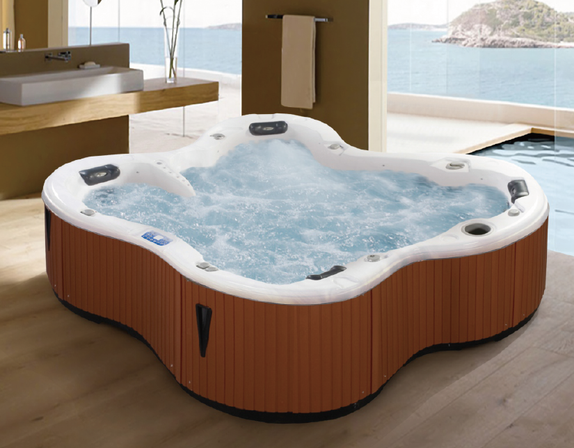 Jazzi Butterfly Special Design Fashion Acrylic High Configuration Sex Massage Spa Bathtub SKT338K