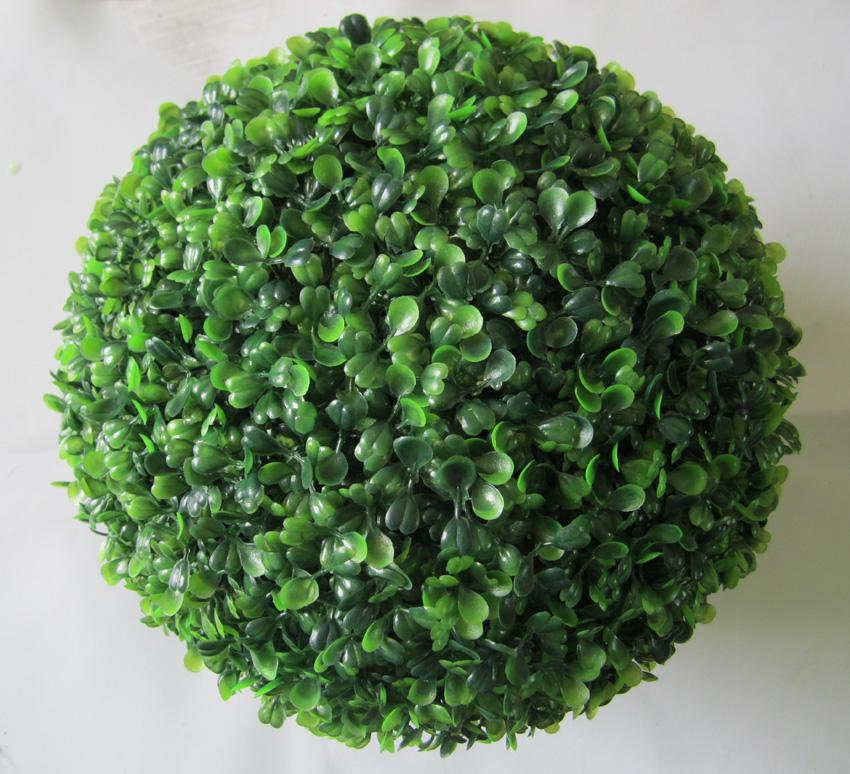 China manufacturer artificial topiary green grass ball for decoration