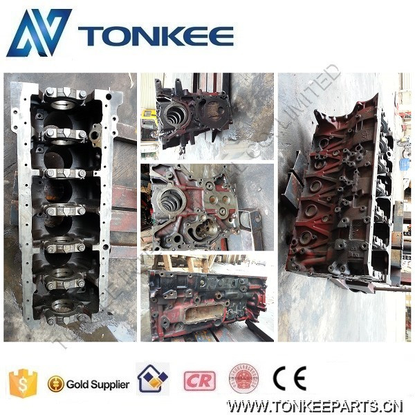 Engine parts SK330-8 cylinder body, HINO cylinder block J08E for KOBELCO