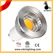 6 vatios mr16 alto cri y pf; 95 lm80 ampolleta led gu10 cob, diámetro 50mm 6 w luces led gu10