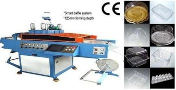OPS and PET boxes for cakes and clamshells production machine