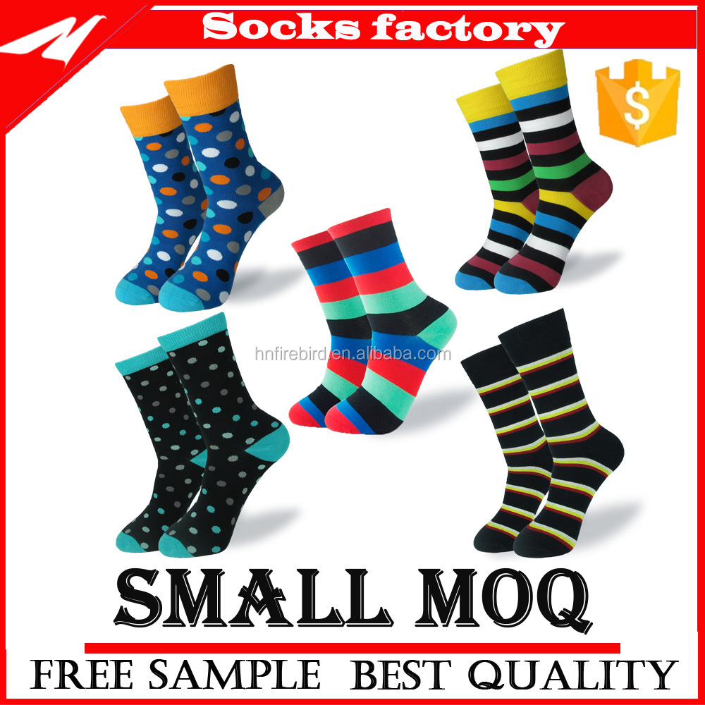 Men's Fashion Colorful Jacquard Customized Cotton Socks Discount