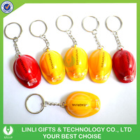Oem logo construction helmet plastic light key chain