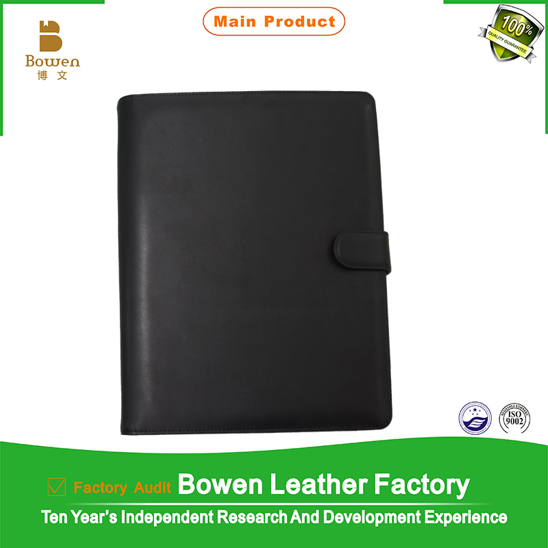 TYWEN - 0283 conference file folder from professional factory / office pu leather conference folder / fancy a4 two pocket folder