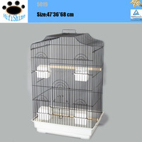 Chinese manufactured high quality metal chrome wall mount parrot bird cage