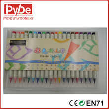 Real brush tip multi color water color pen for art marker