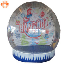 Inflatable human size snow globe, christmas inflatable snow globe, inflatable snow globe tent