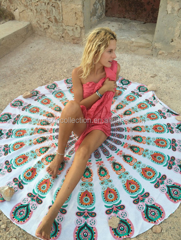 Bohemian Mandala Round Beach Tapestry Hippie Throw Yoga Mat Towel magic <strong>scarf</strong> & shawl 2016 mandala tapestry
