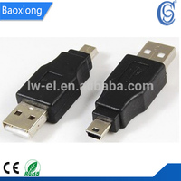 USB 2.0 A male to mini 5Pin male adapter,mini jack to usb adapter